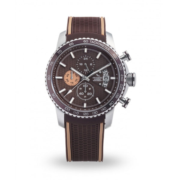 Strumento Marino Freedom Brown Silicone Strap Chrono Diver Watch