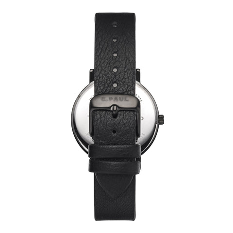 The Strand Luxe 35mm by Christian Paul Watches | Black-on-black