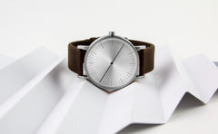 Simpl Watch Silver Brown 101.Watch