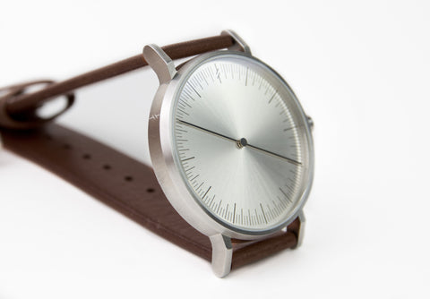 Silver Brown by Simpl Watch