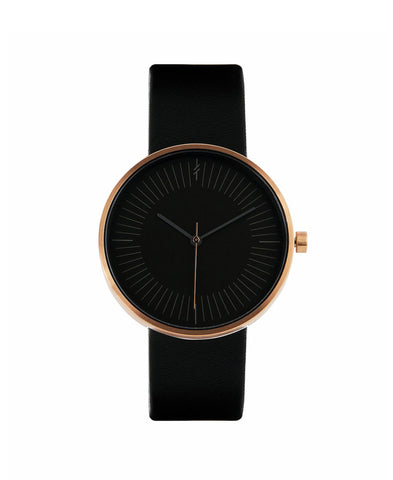 Amber Black by Simpl Watch | Black-on-black