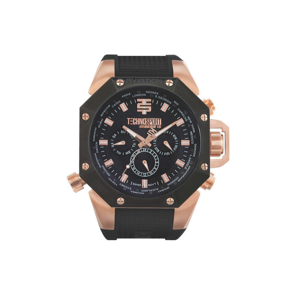 Aviation TS-100-1AV by TechnoSport Watches | Black-on-black