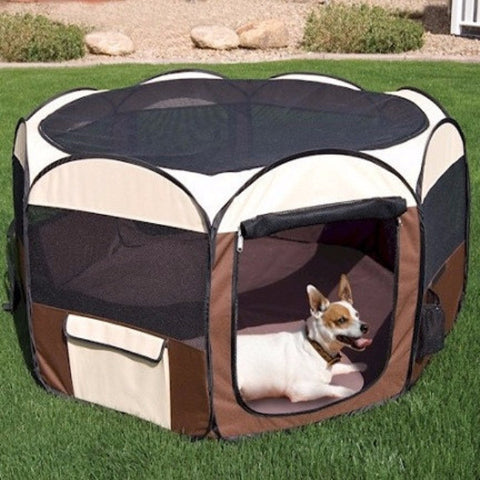 Deluxe Pop Up Pet Pen - Medium - BD Luxe Dogs & Supplies