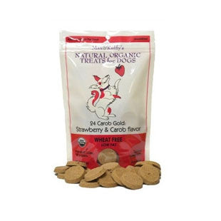 12 pk 24 Carob Gold: Strawberry & Carob Flavor 8 oz - - BD Luxe Dogs & Supplies