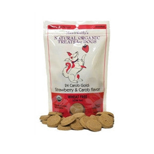 24 Carob Gold: Strawberry & Carob Flavor Mini Bites 5 oz - BD Luxe Dogs & Supplies