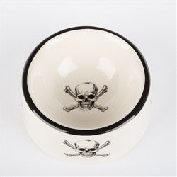 Skull & Crossbones Bowls and Treat Jars Collection - BD Luxe Dogs & Supplies