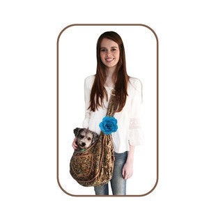 BoHo Blues Puppy Sling Pouch - BD Luxe Dogs & Supplies - 1