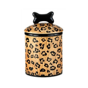 Leopard Ceramic Treat Jars - BD Luxe Dogs & Supplies - 1