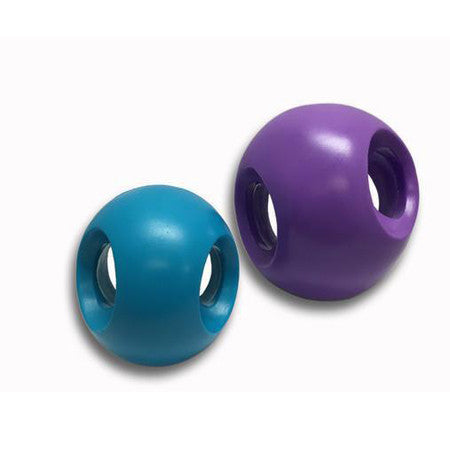 4 INCH TEAL BLUE POWERHOUSE SOFT FLEX AIR BALL DOG TOY