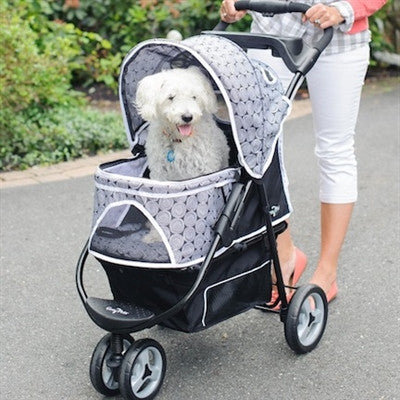 Black Onyx Promenade™ Stroller for pets up to 50 lbs. - BD Luxe Dogs & Supplies - 1