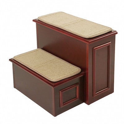 Deluxe 2 Step with hide-away storage (Cherry) - BD Luxe Dogs & Supplies - 1