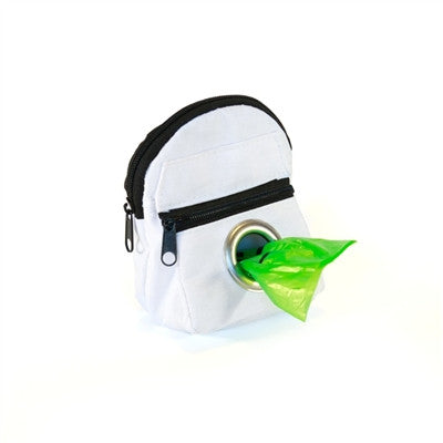 POOCH POUCH - WHITE Backpack Dispenser & Biodegradable Waste Pick-Up Bags - BD Luxe Dogs & Supplies - 1