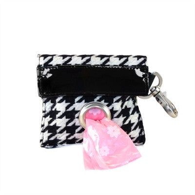 POOCH POUCH - Houndstooth Dispenser & Biodegradable Waste Pick-Up Bags - BD Luxe Dogs & Supplies - 1