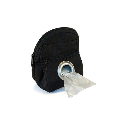 POOCH POUCH - BLACK Backpack Dispenser & Biodegradable Waste Pick-Up Bags - BD Luxe Dogs & Supplies - 1