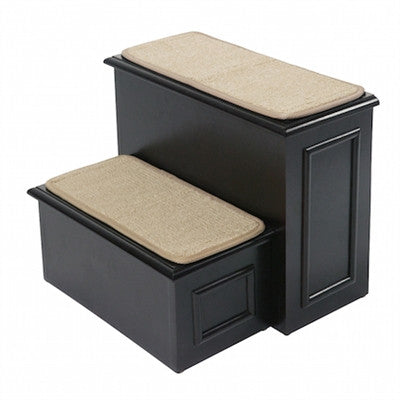 Deluxe 2 Step with hide-away storage (Espresso) - BD Luxe Dogs & Supplies - 1