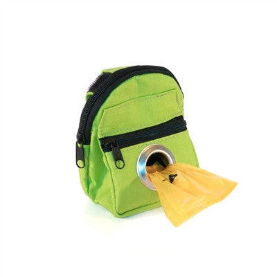 POOCH POUCH - GREEN Backpack Dispenser & Biodegradable Waste Pick-Up Bags - BD Luxe Dogs & Supplies - 1