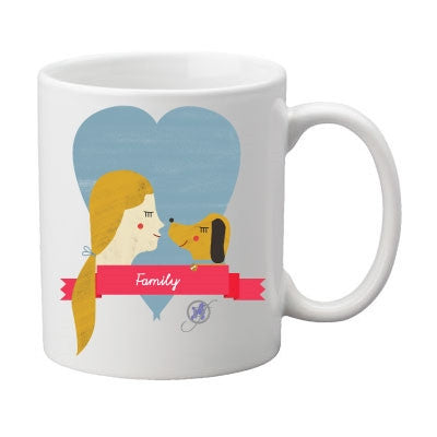 Family Two-Sided Mug, pack of 4, by Dog Fashion Living - BD Luxe Dogs & Supplies - 1