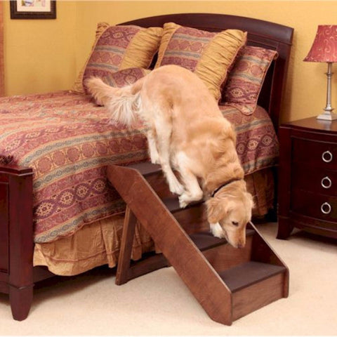 Extra Large Wood Dog Steps - BD Luxe Dogs & Supplies