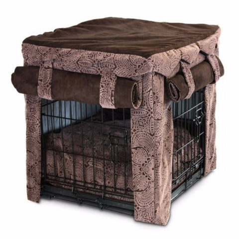 Cabana Pet Crate Cover with Pillow Bed - Medium - BD Luxe Dogs & Supplies