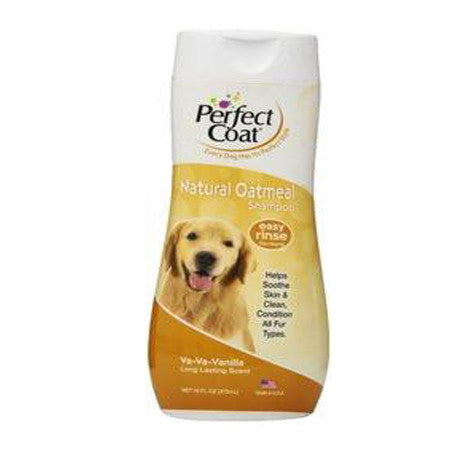 8IN1 PERFECT COAT VANILLA OATMEAL DOG SHAMPOO 16OZ