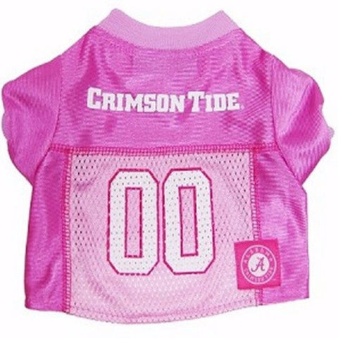 Alabama Crimson Tide Pink Jersey - BD Luxe Dogs & Supplies