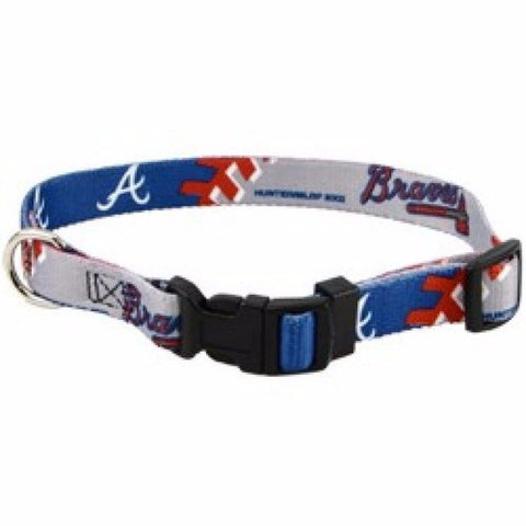 Atlanta Braves Dog Collar - BD Luxe Dogs & Supplies