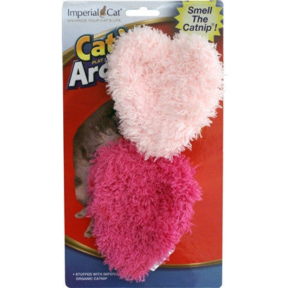 Cat N` Around Fuzzy Heart Duo Catnip Toy - BD Luxe Dogs & Supplies - 1