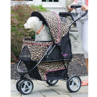 Cheetah Promenade™ Stroller for pets up to 50 lbs. - BD Luxe Dogs & Supplies - 1