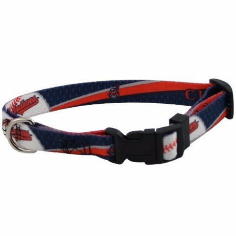 Cleveland Indians Dog Collar - BD Luxe Dogs & Supplies