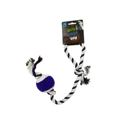 Dog Rope Tennis Ball Toy - BD Luxe Dogs & Supplies - 1