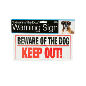 Dog Warning Sign