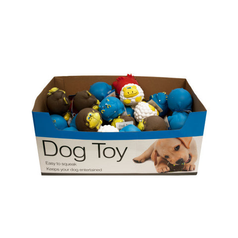 Animal Characters Dog Squeak Toys Counter Top Display - BD Luxe Dogs & Supplies - 1