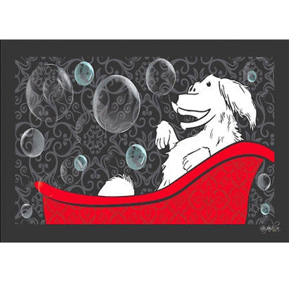 Dog Bathing Mat Happy Dog Design by Dog Fashion Spa - BD Luxe Dogs & Supplies - 1