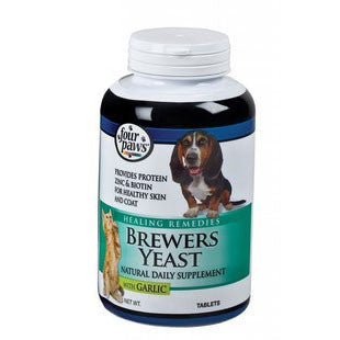 FOUR PAWS BREWERS YEAST TABLETS WITH GARLIC 1000CT - BD Luxe Dogs & Supplies - 1