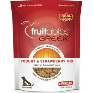 FRUITABLES GREEK YOGURT AND STRAWBERRY FLAVOR DOG TREAT 7OZ - BD Luxe Dogs & Supplies