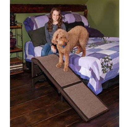 Free-Standing Extra Wide Carpeted Pet Ramp - BD Luxe Dogs & Supplies - 1