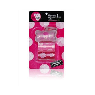 GIRL Transparent Bone Shape Dispenser & Biodegradable Waste Pick-Up Bags - BD Luxe Dogs & Supplies