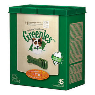 GREENIES 27OZ CANISTER DOG TREATS SIZE PETITE - BD Luxe Dogs & Supplies