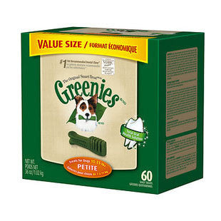 GREENIES 36OZ CANISTER DOG TREATS SIZE PETITE - BD Luxe Dogs & Supplies
