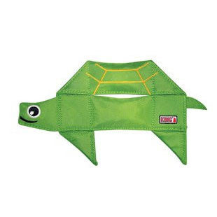 KONG BALLISTIC FLATZ TURTLE DOG TOY SIZE SMALL 11 INCH - BD Luxe Dogs & Supplies