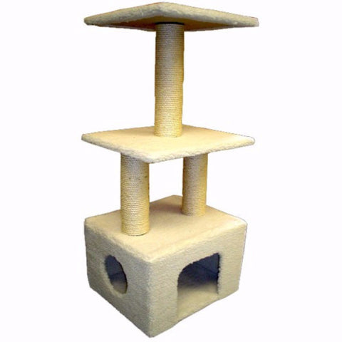 Majestic 40 Inch Bungalow Cat Tree - BD Luxe Dogs & Supplies