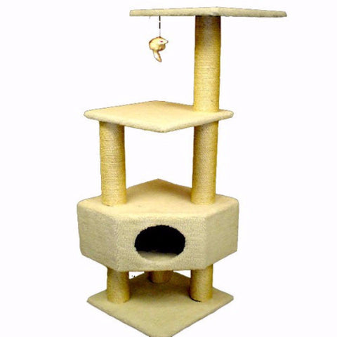 Majestic 52 Inch Bungalow Cat Tree - BD Luxe Dogs & Supplies