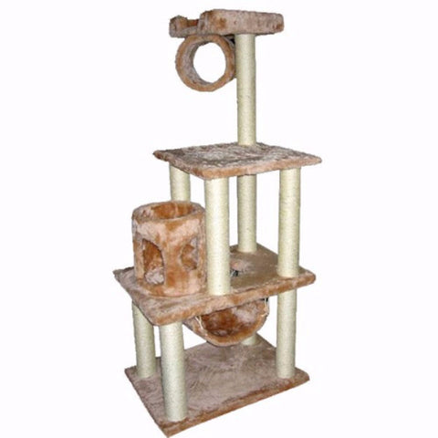 Majestic 62 Inch Casita Cat Tree - BD Luxe Dogs & Supplies