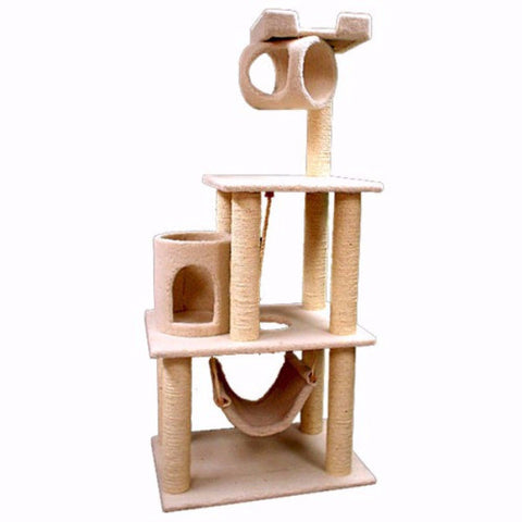 Majestic 62 Inch Bungalow Cat Tree - BD Luxe Dogs & Supplies