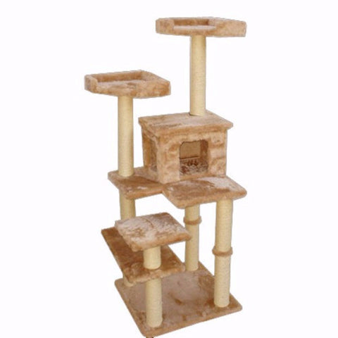 Majestic 66 Inch Casita Cat Tree - BD Luxe Dogs & Supplies