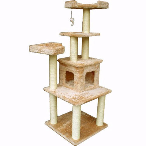 Majestic 64 Inch Casita Cat Tree - BD Luxe Dogs & Supplies