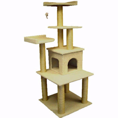 Majestic 64 Inch Bungalow Cat Tree - BD Luxe Dogs & Supplies