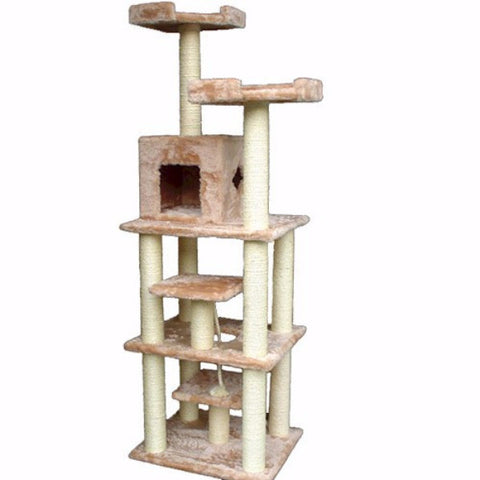 Majestic 78 Inch Casita Cat Tree - BD Luxe Dogs & Supplies