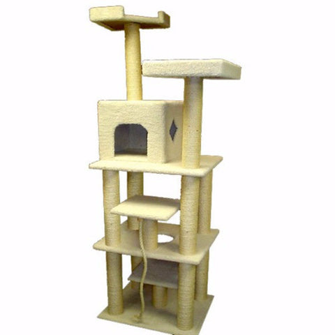Majestic 78 Inch Bungalow Cat Tree - BD Luxe Dogs & Supplies