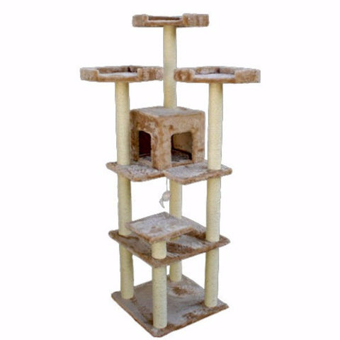 Majestic 80 Inch Casita Cat Tree - BD Luxe Dogs & Supplies
